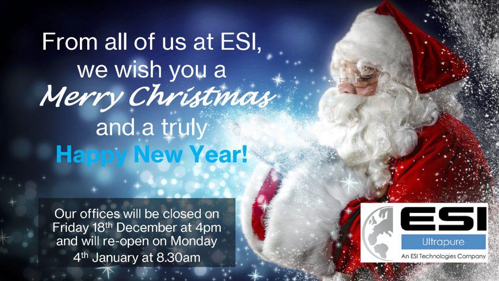 ESI Ultrapure Christmas Message